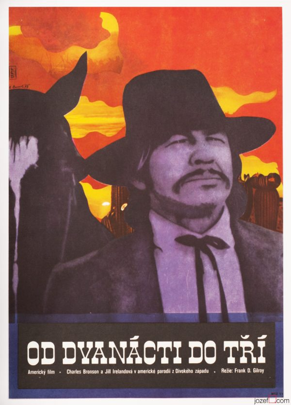 70s Poster, From Noon Till Three, Western Movie Poster