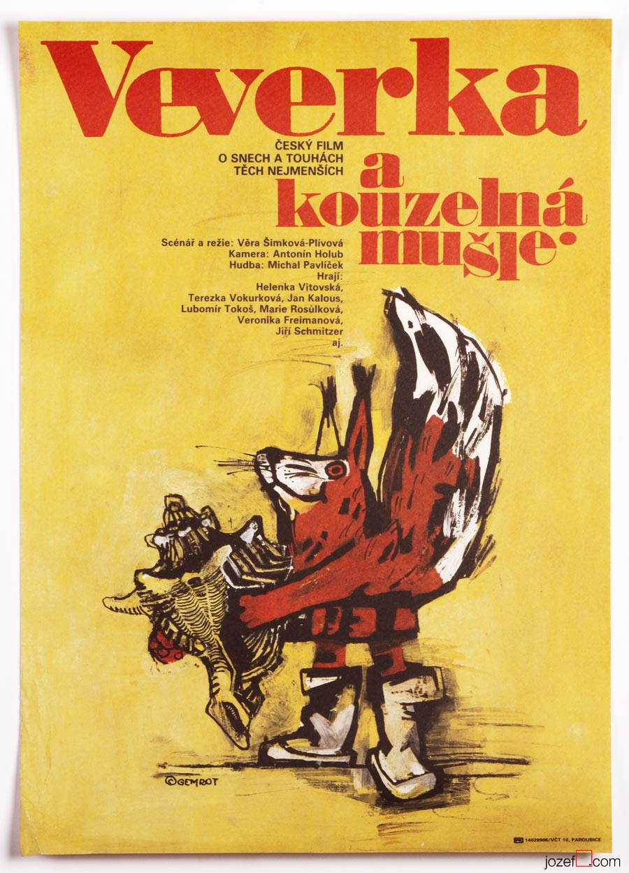 Kids Movie Poster, 1980s Illustration