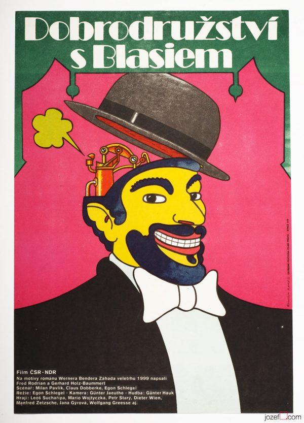Kids Movie Poster, Illustration, Vintage Poster