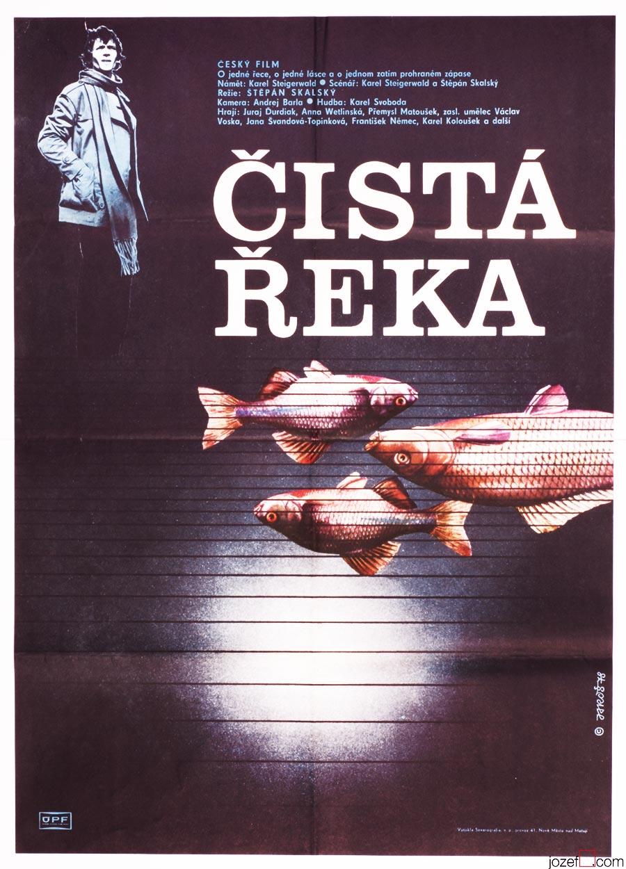 Movie Poster, Clean River, Minimalist poster art