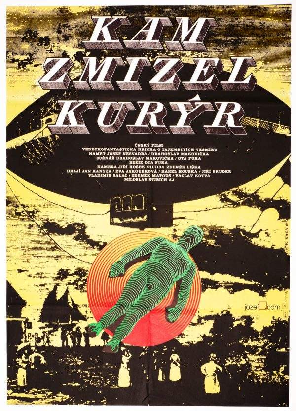 Sci-fi Movie Poster, Where the Currier Disappeared, Karel Vaca