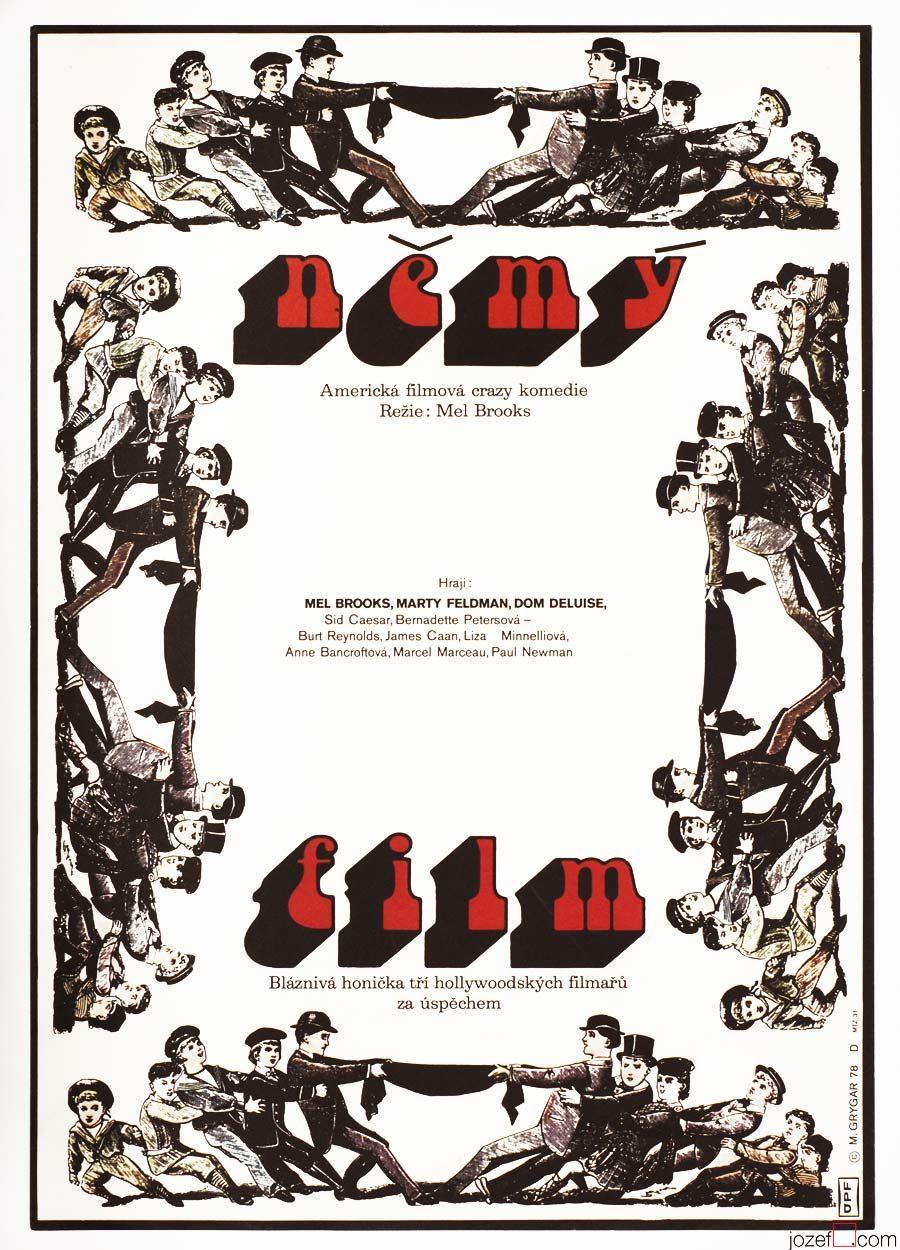 Silent Movie poster, Minimalist Poster Design