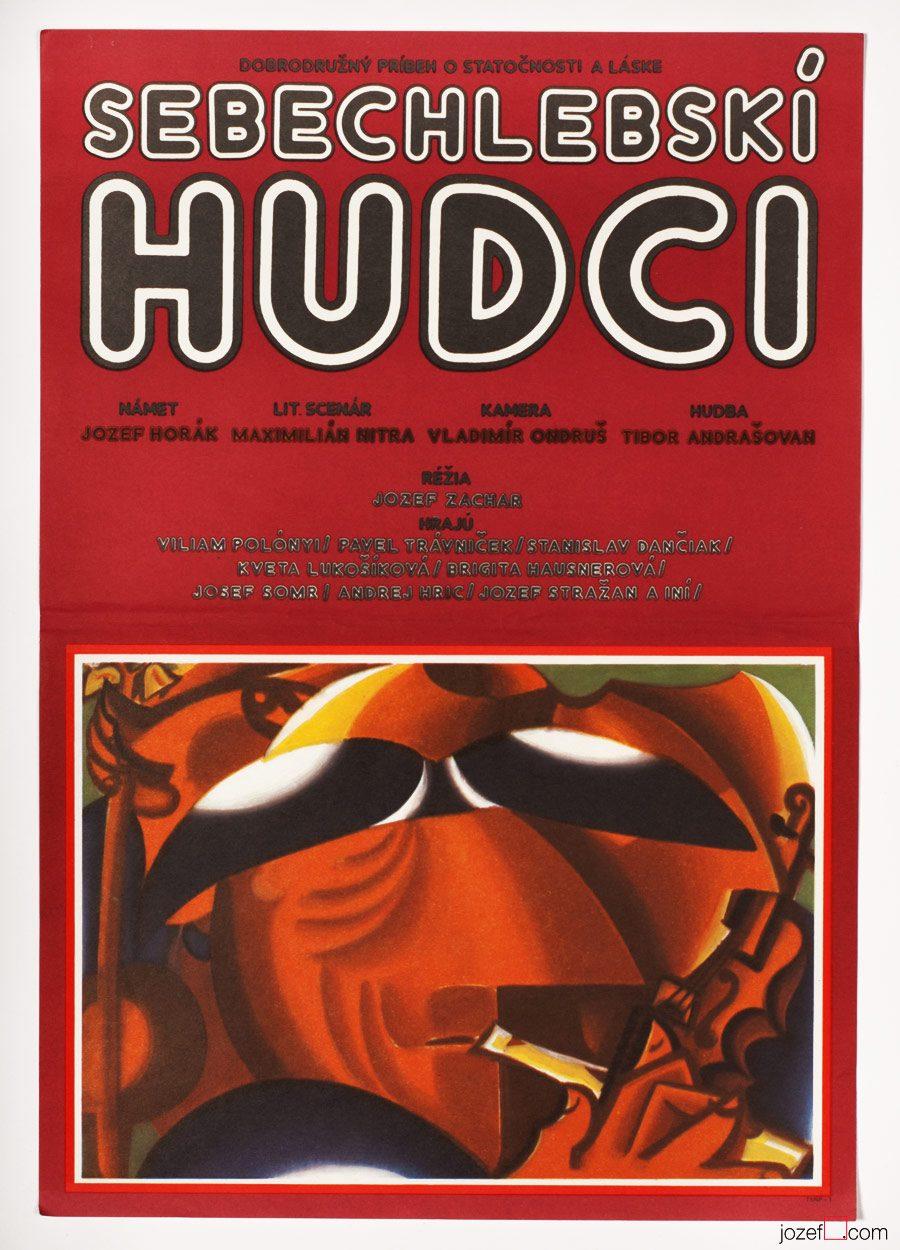 Abstract Movie Poster, Milan Laluha, 70s Cinema Art
