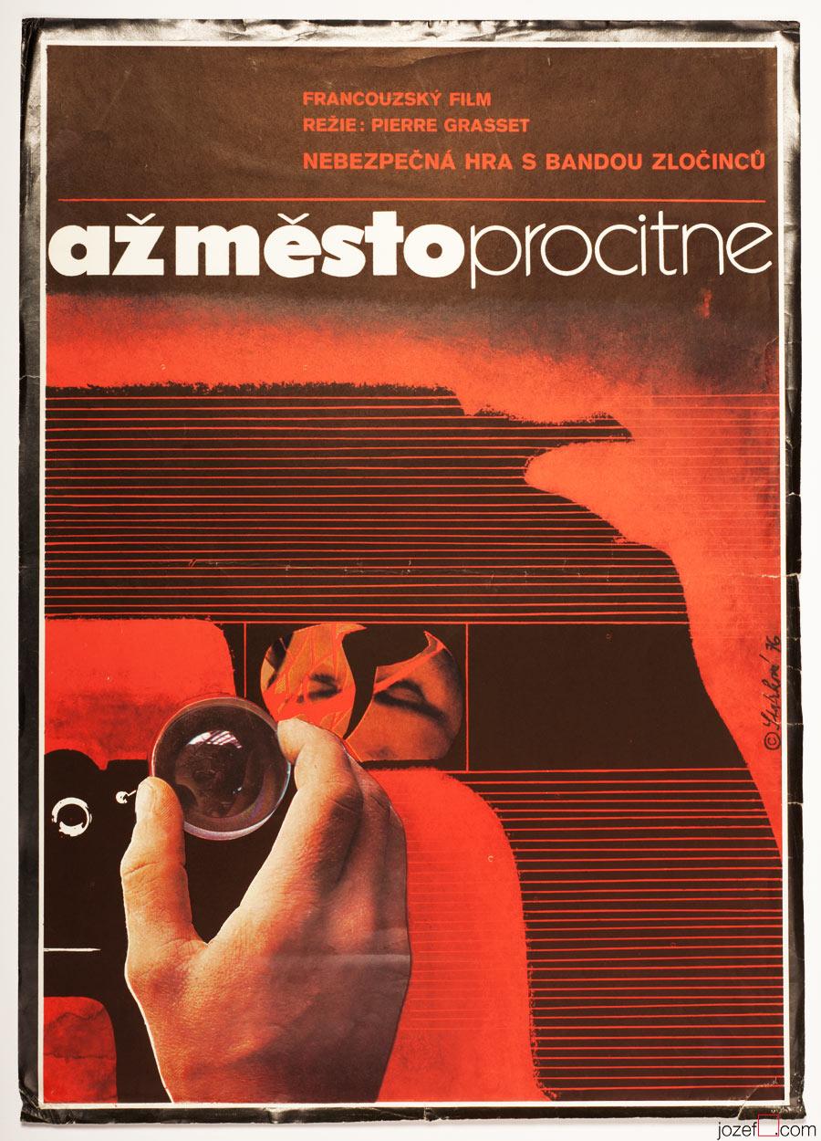 Movie Poster When the City Awakes, 70s Cinema Art
