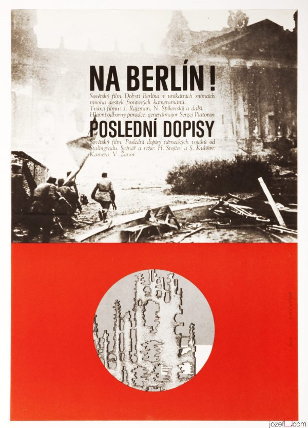 The Fall of Berlin poster designed by Bedřich Dlouhý, 1968