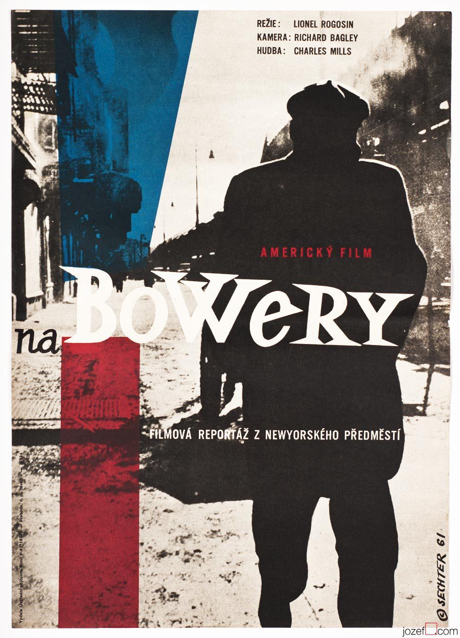 On the Bowery movie poster, 60s Vintage Poster