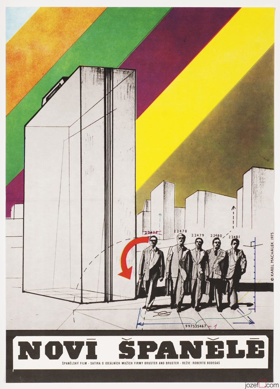 The New Spaniards, Minimalist Poster, Karel Machalek