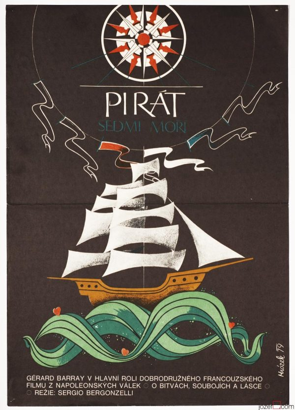 Sea Pirate Movie Poster, Pirate Ship Poster