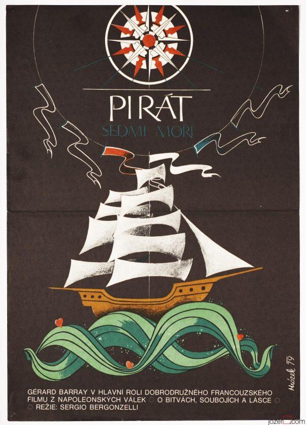 Sea Pirate Movie Poster, Pirate Ship Poster