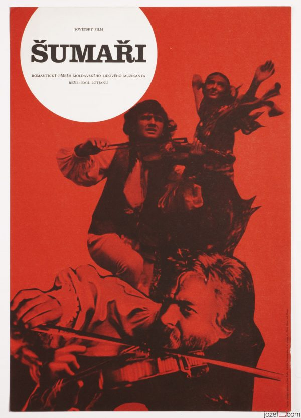 1970s Collage Poster, Fiddlers, 1970s Cinema Art