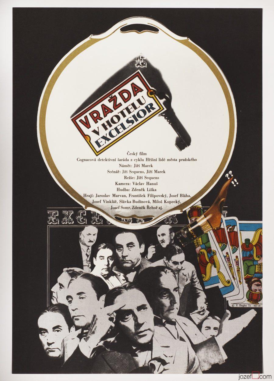 VIntage poster, Murder at the Excelsior, 70s Poster