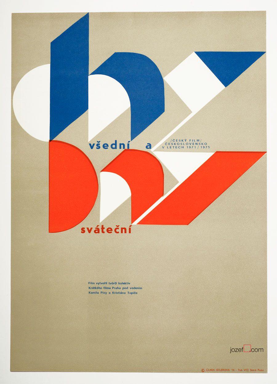 Minimalist poster, 1970s Czechoslovak Poster Art