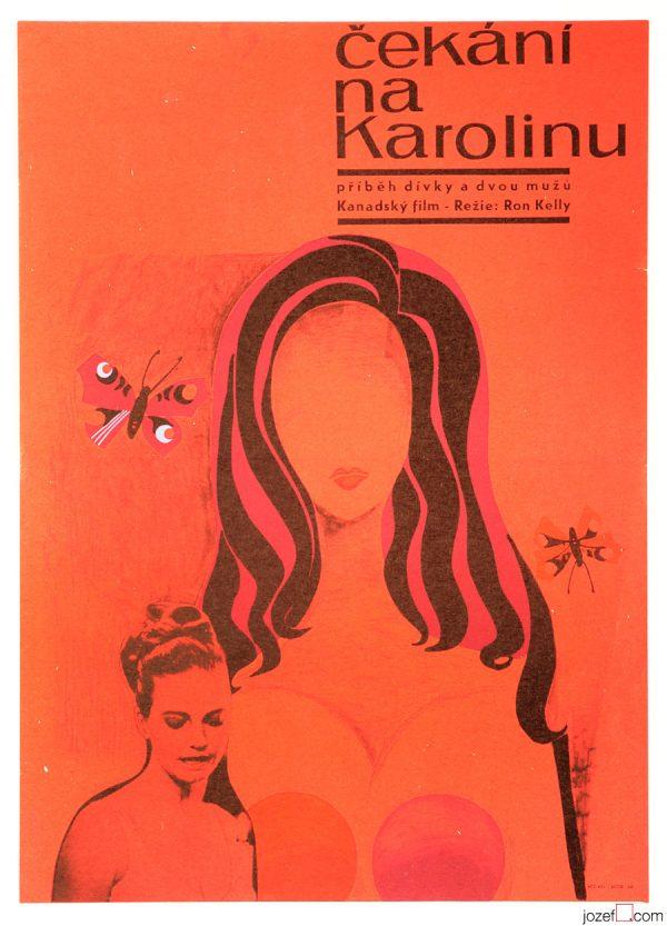 Waiting for Caroline, Vintage 1960s Movie Poster