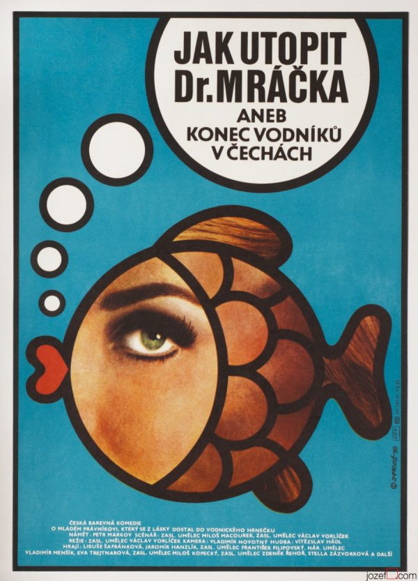 Movie poster, How to Drown Dr. Mracek, 1980s Poster