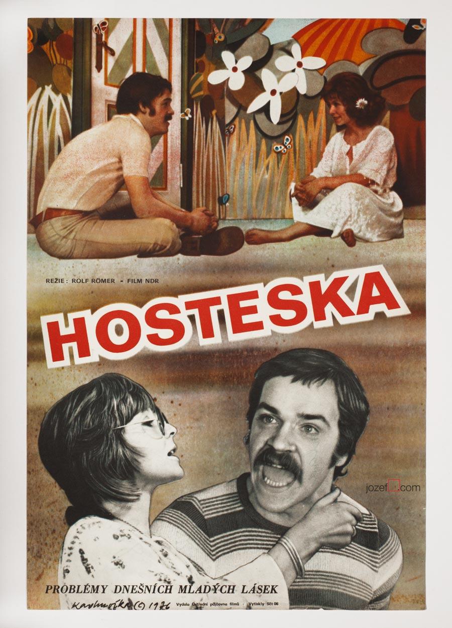Movie Poster, Hostess, 1970s Poster Art