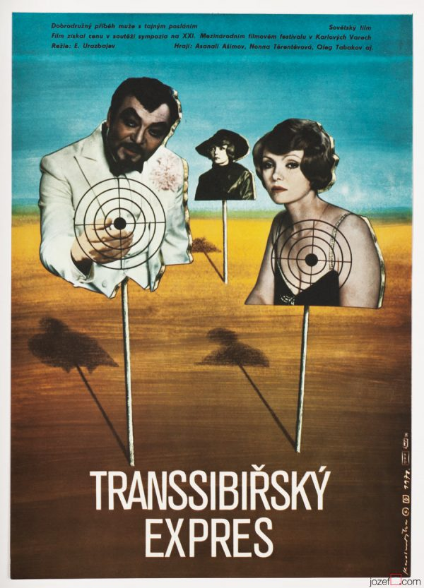 Movie Poster, Trans-Siberian Express, Collage Poster