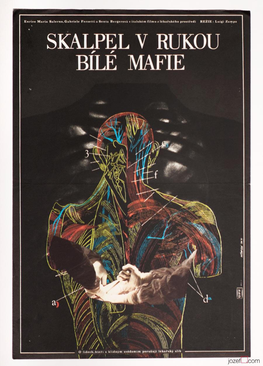 Movie Poster, Secrets of a Nurse, Minimalist poster