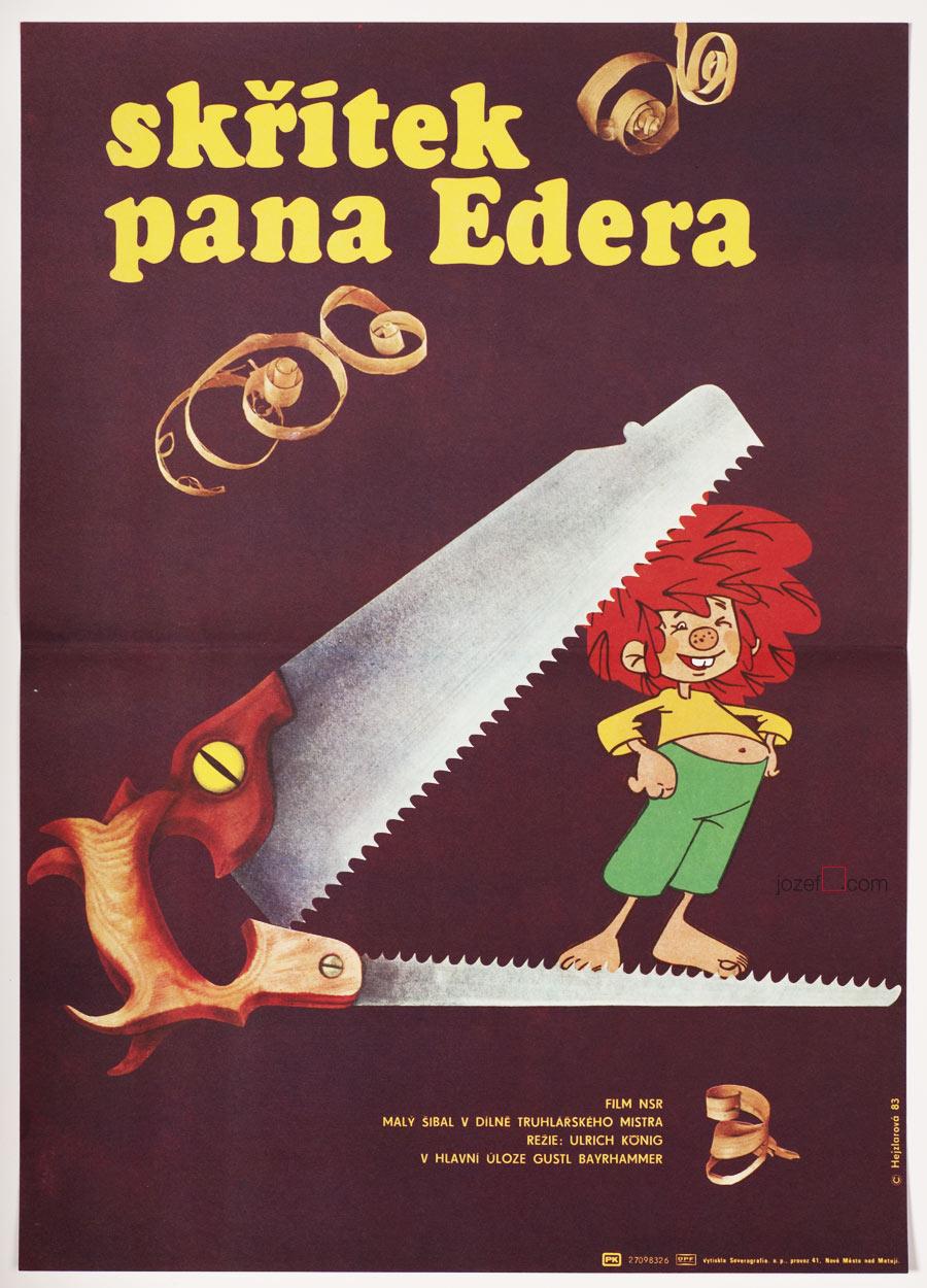 Vintage kids poster, Master Eder and his Pumuckl
