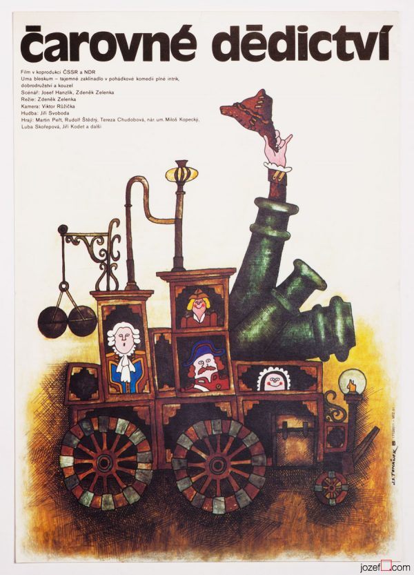 Kids Movie Poster, A Magic Heritage, Illustrated Poster