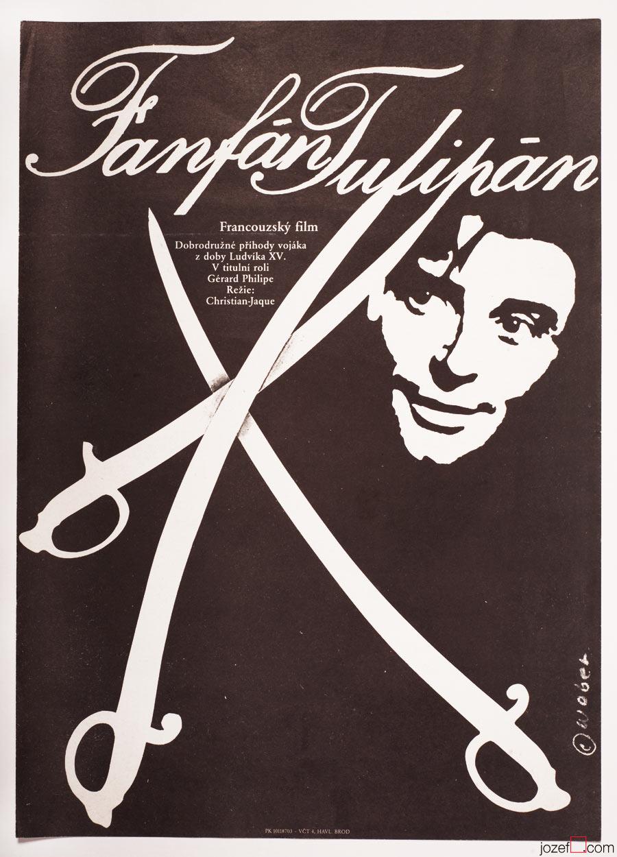 Fan-Fan the Tulip movie poster, Minimalist Poster Art