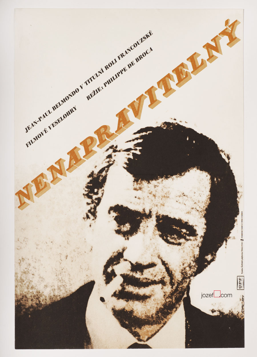 Movie poster, Incorrigible, Jean-Paul Belmondo