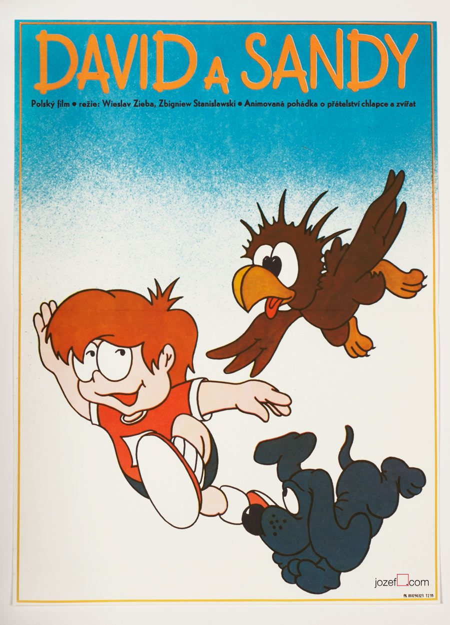 Kids Poster, David and the Magic Pearl, Vintage Poster