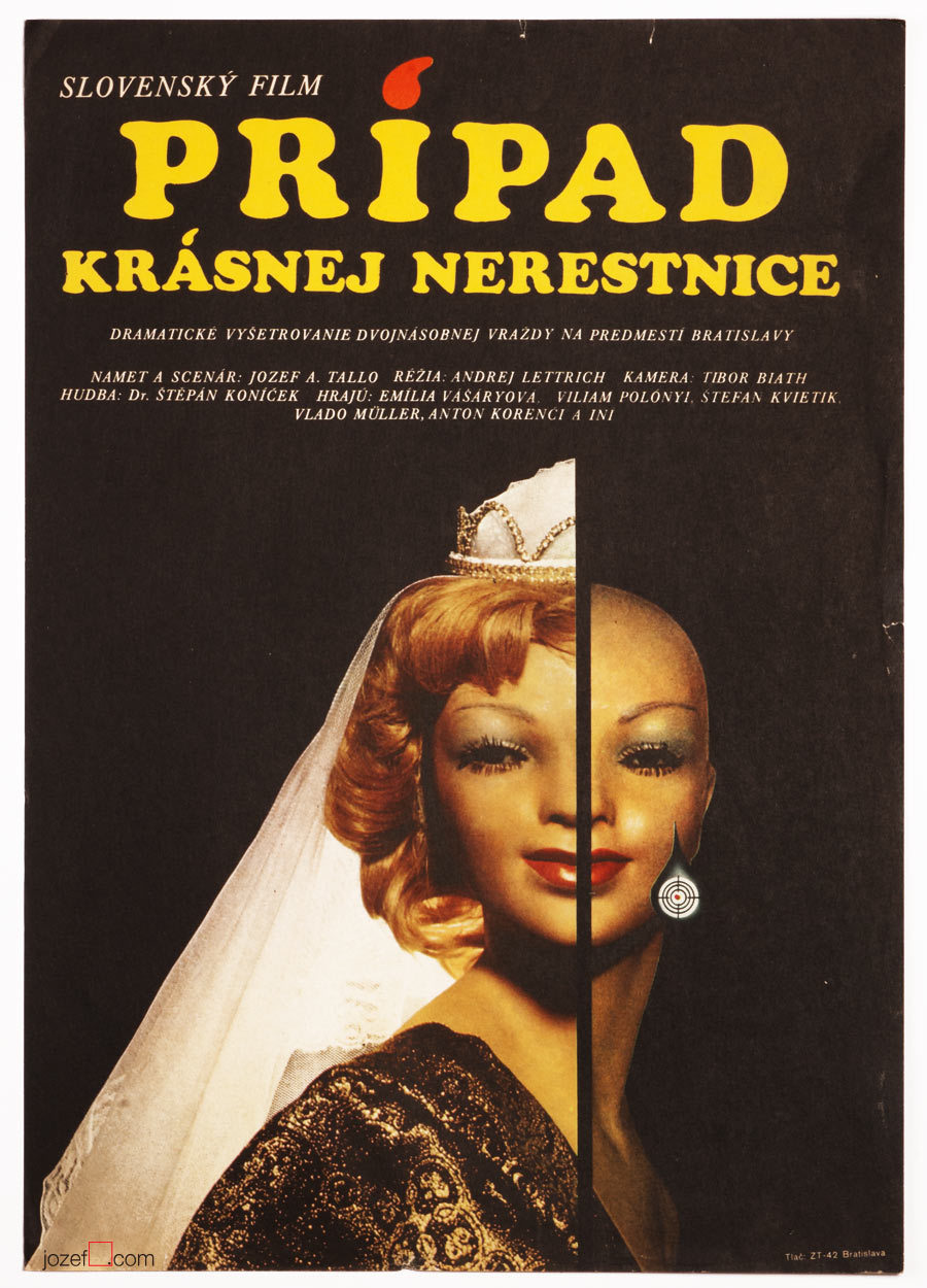 Movie Poster, The Case of the Dissolute Beauty, Collage Poster