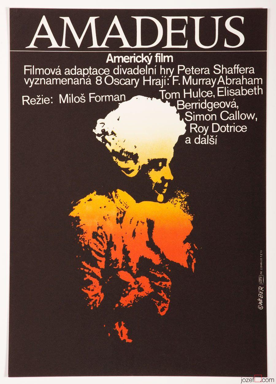Amadeus Movie Poster / 1980s Movie Poster