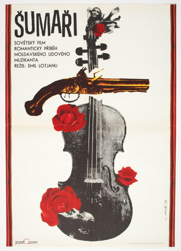 Movie poster Fiddlers, 1970s Movie Poster