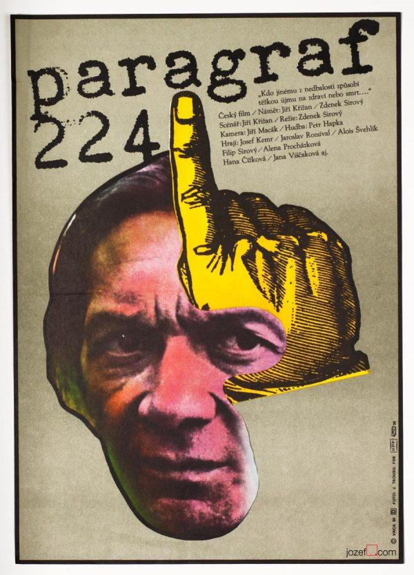 Movie Poster Article 224, 1980s Karel Vaca