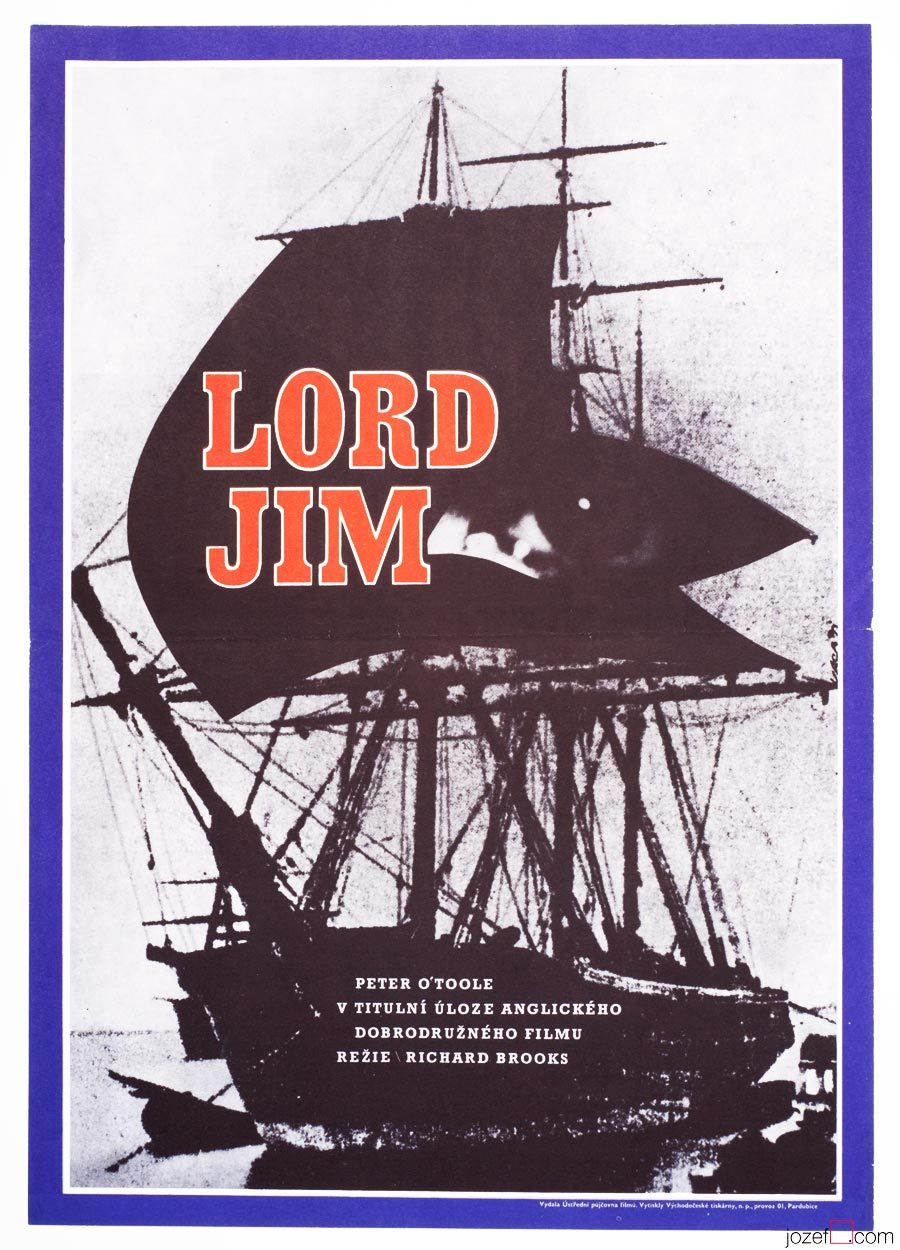 Lord Jim poster, 1970s Movie Poster