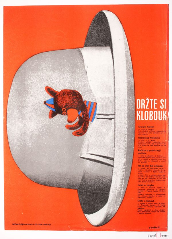 Kids Poster Hold your Hat, 1960s Movie Poster