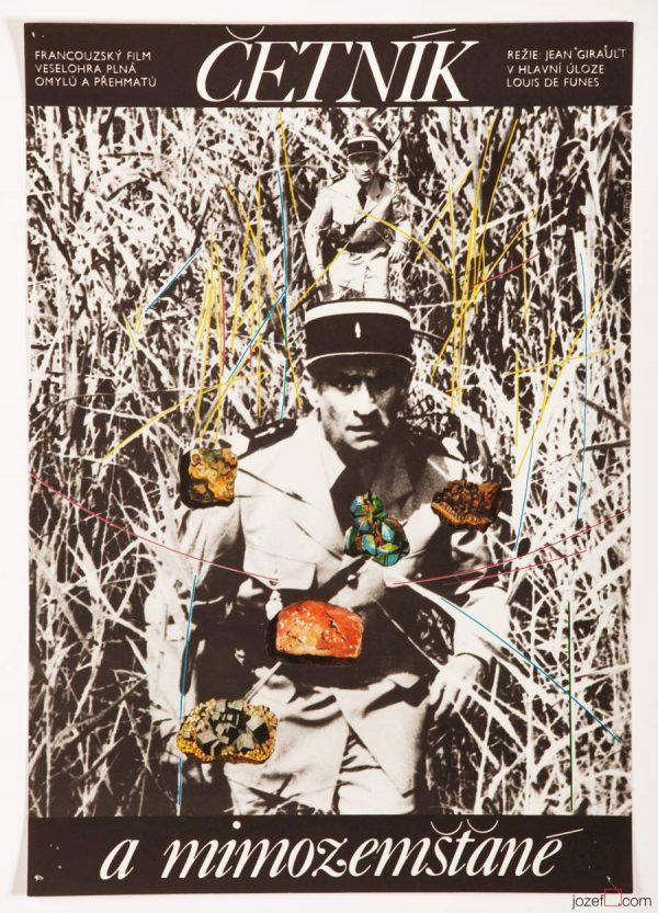 Louis de Funes Film Poster Troops and Aliens