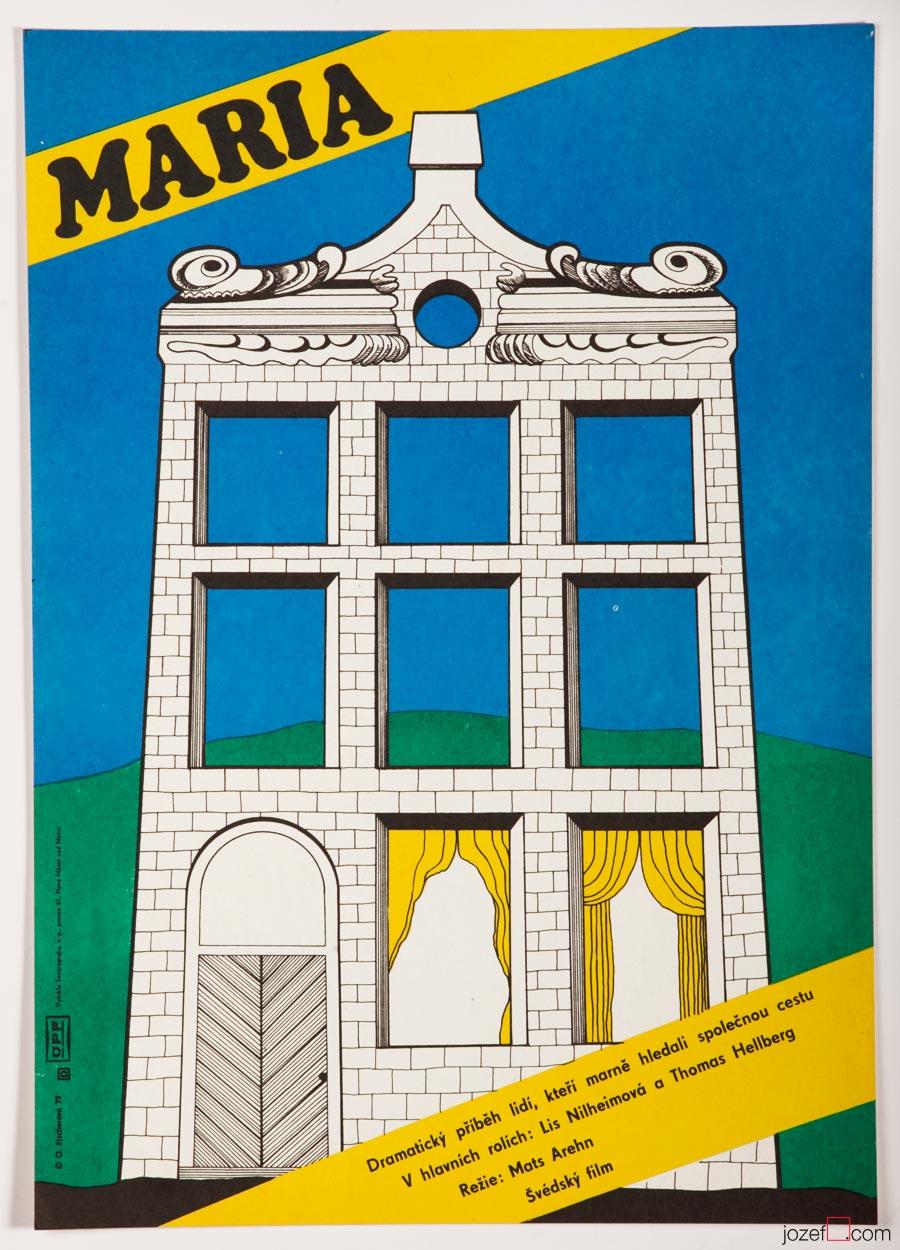 Minimalist Poster Maria, 70s Vintage Poster