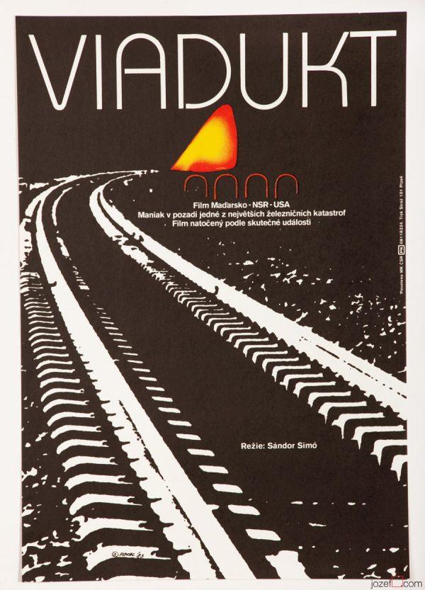 Movie poster The Train Killer, Minimalist Design
