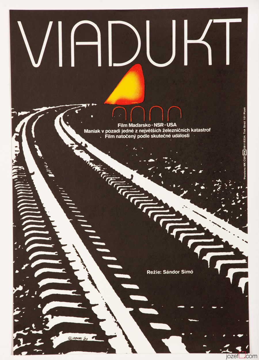 Movie poster The Train Killer, Minimalist Design