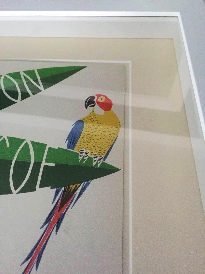Robinson Crusoe Poster Framed