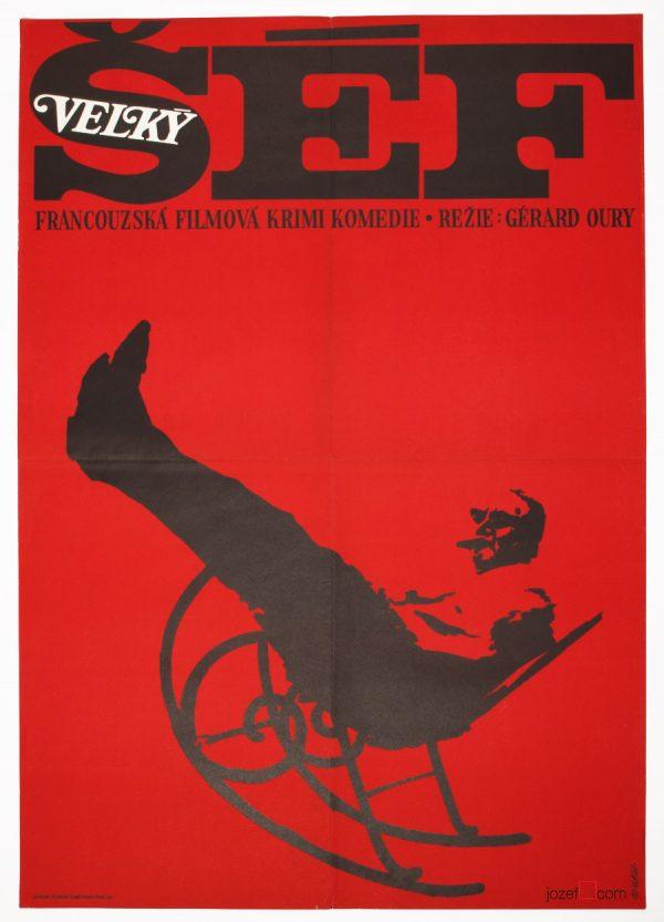 Le Cerveau film poster, Minimalist Poster