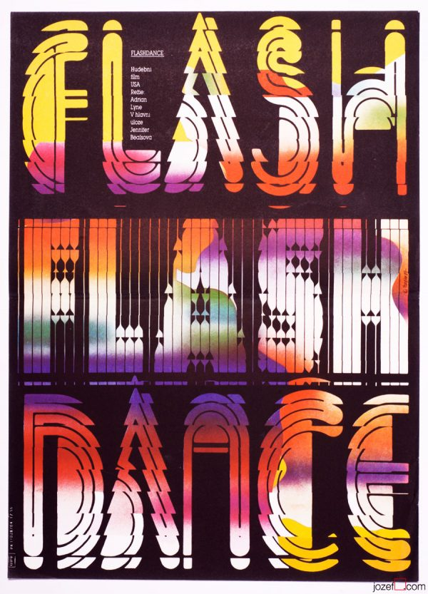 Flashdance poster, Vintage typography print