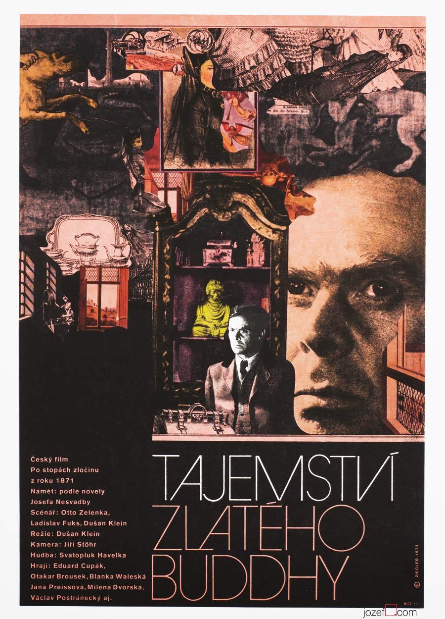 70s Film Poster, Secret of the Golden Buddha