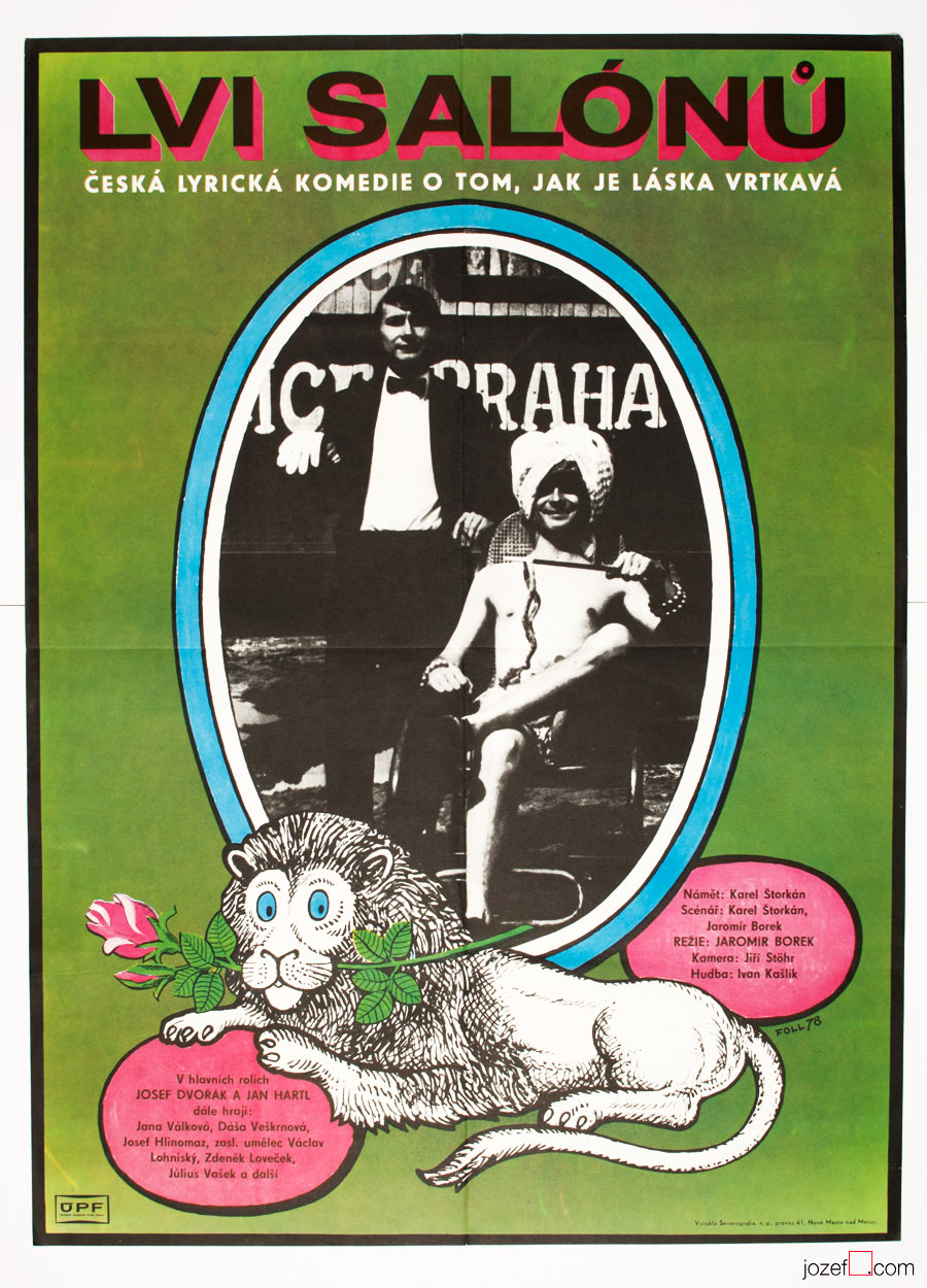 Vintage film poster The Social Lions