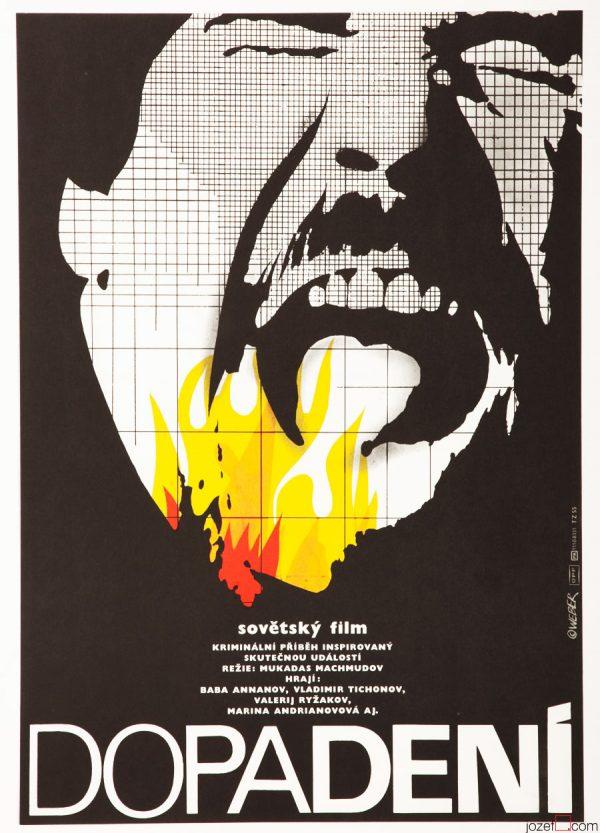 Minimalist Movie Poster, Seizure, 1980s Poster Art