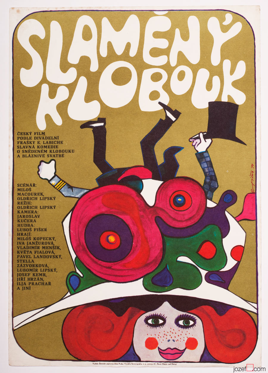 Straw Hat Movie Poster, Vintage poster