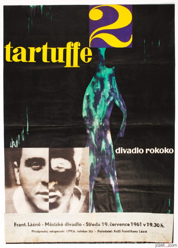 Tartuffe Theatre Poster, Abstract Poster