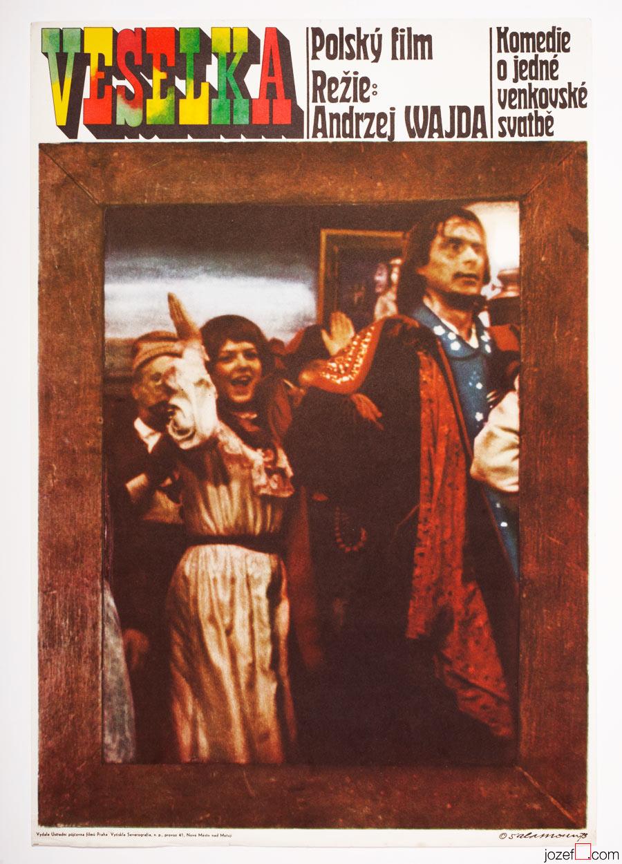 The Wedding, FIlm Poster, Andrzej Wajda
