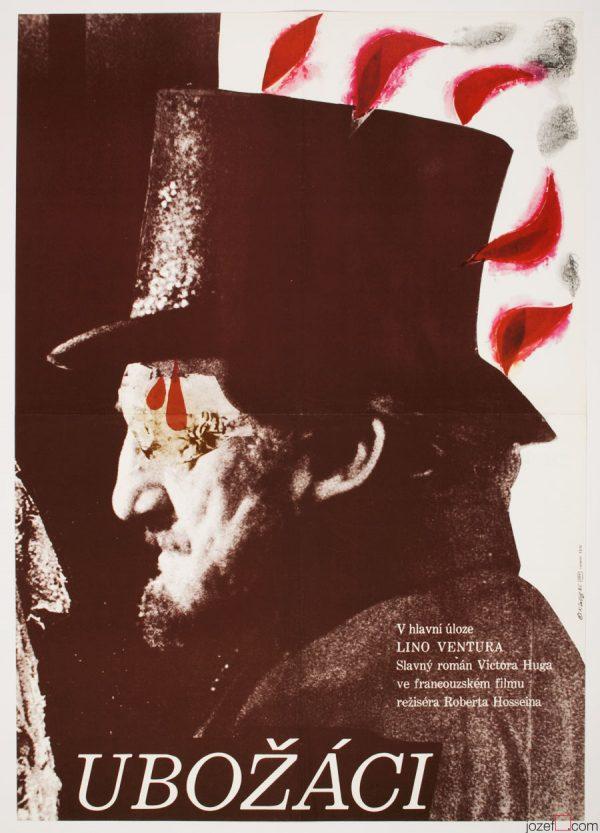 Les Misérables movie poster, 1980s Poster