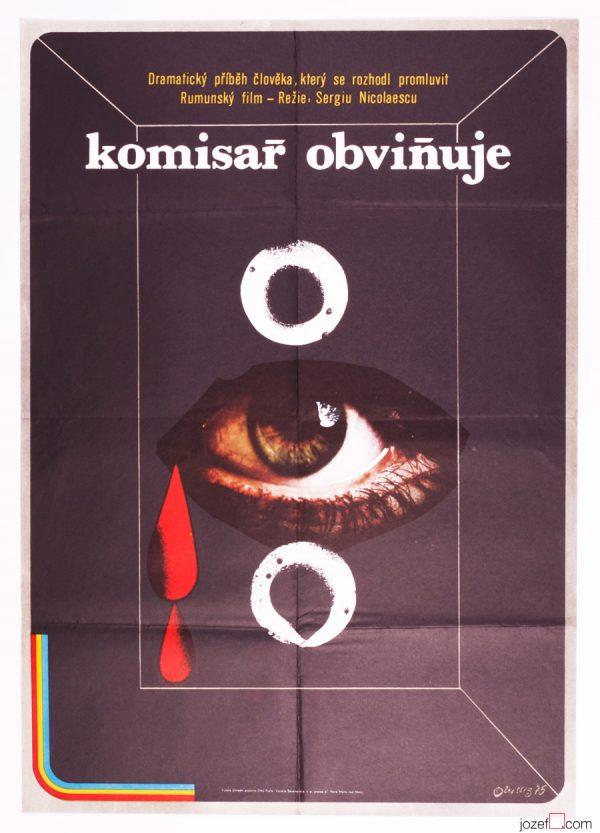 Karel Teissig, Police Inspector Calls. 70s Poster