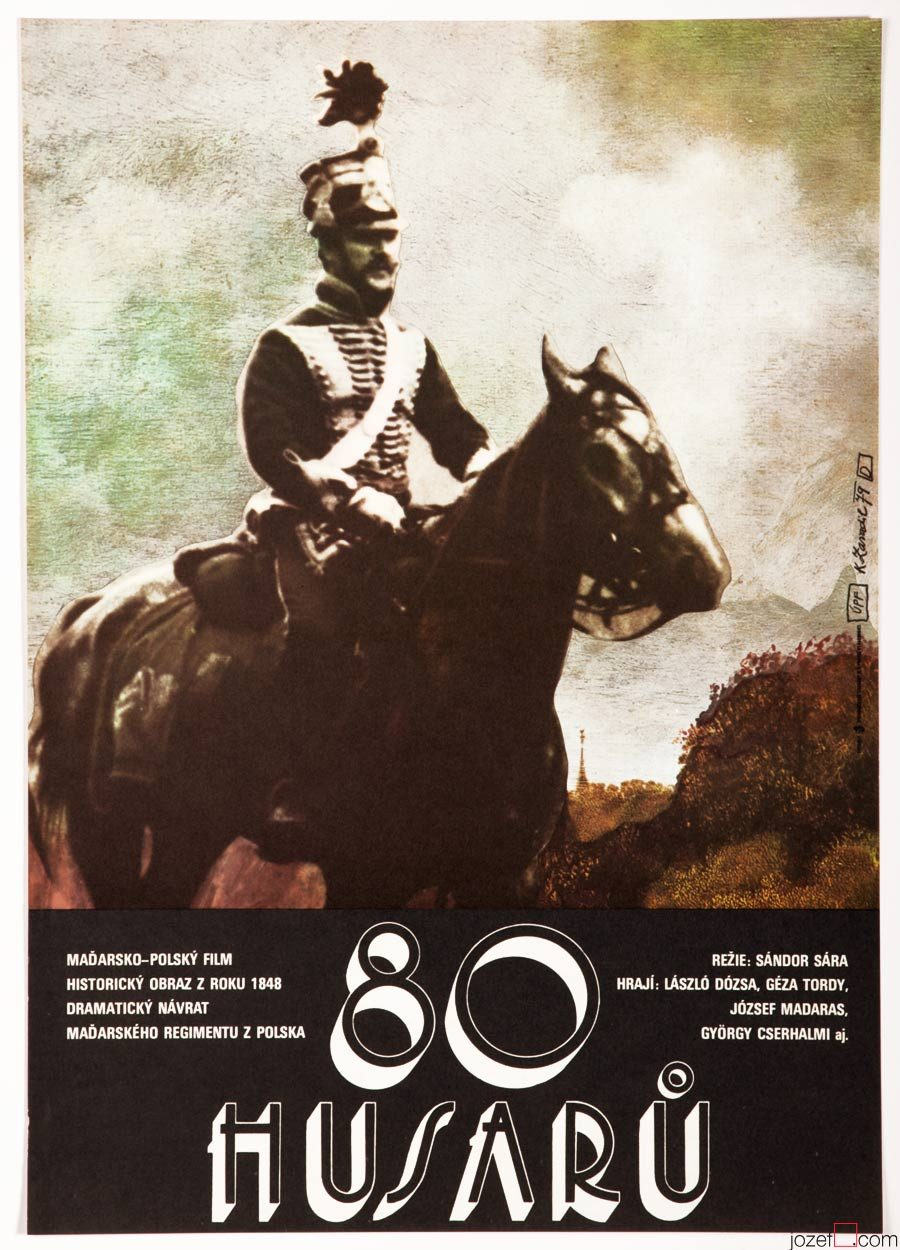 80 Hussars Movie Poster, 1970s Poster