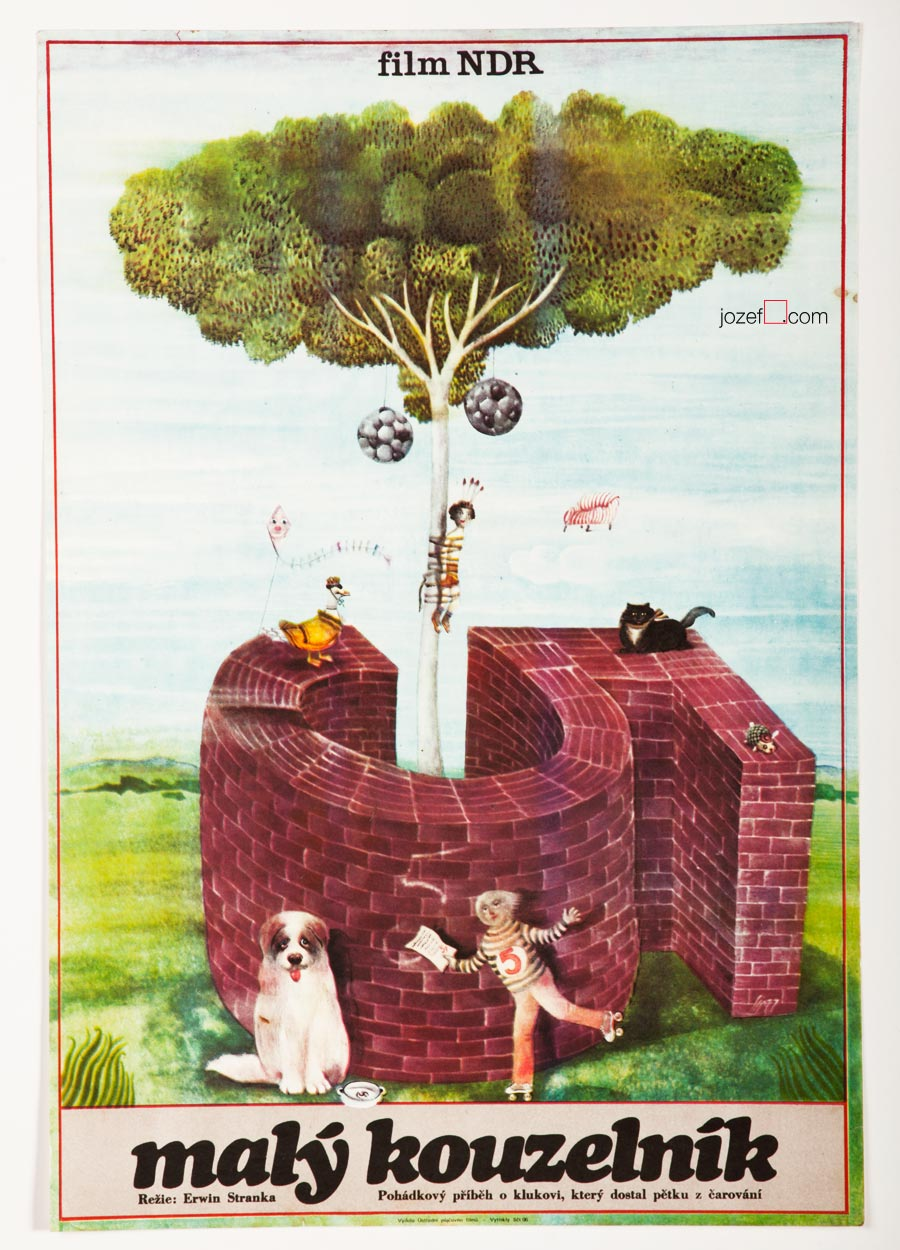 Kids poster The Little Magician and the Bad Mark, 1970s Poster Art