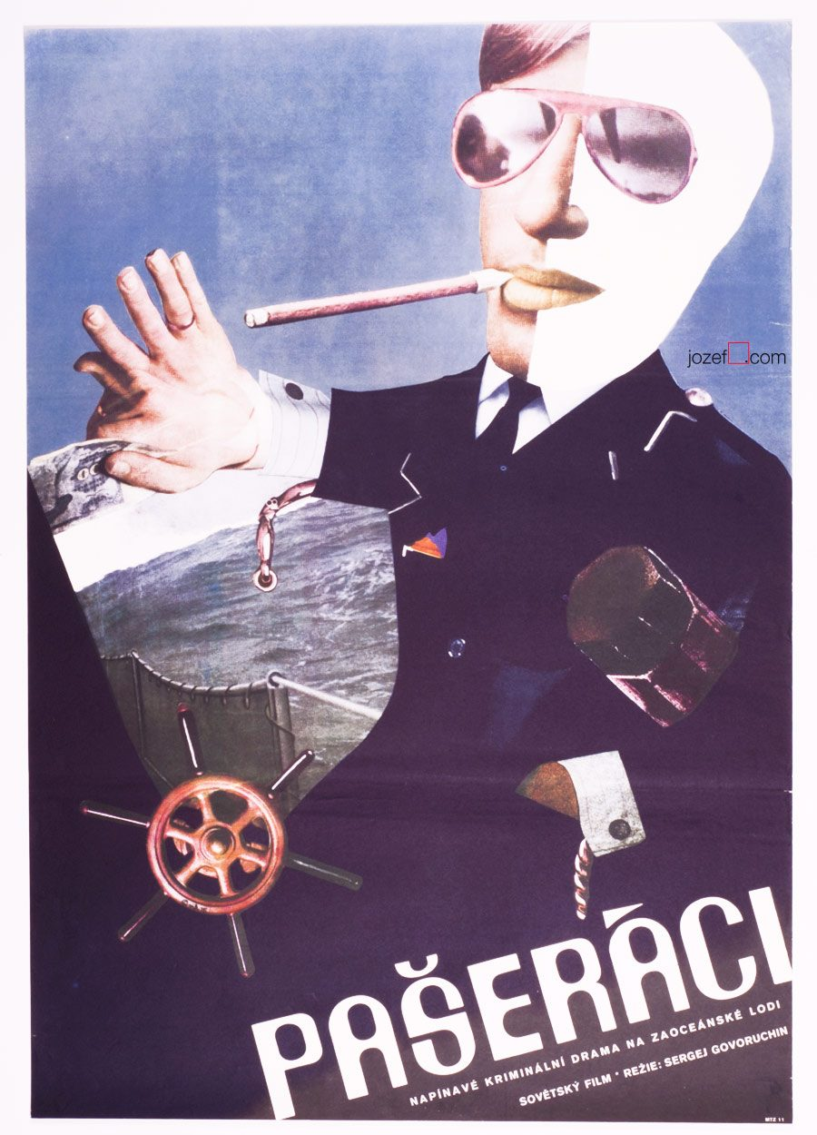 Vintage Movie Poster, Contraband, 70s Graphic Design